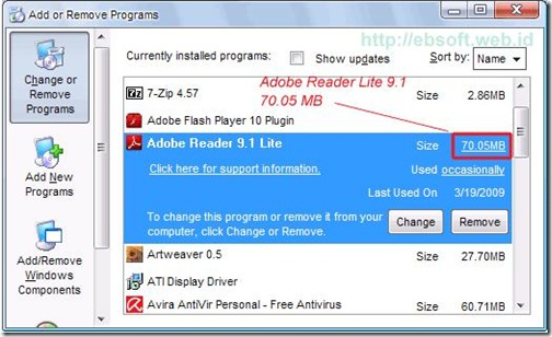 Adobe acrobat Reader Lite Installation